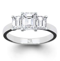 Charles Rose - Eleanor ring - I wonder how it would look in a partial bezel setting? Diamond Rings, Diamond Engagement Rings, Or Rose, Rose Gold, Wedding Engagement, Wedding Rings, Emerald Cut Diamonds, Timeless Classic