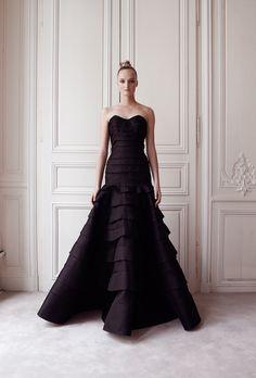 Robe du soir longue Plis d'Organdi - Automne-hiver 14 15 - Couture Campagne - Delphine Manivet