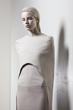 Modern minimalist tailoring with clean lines & curved shapes; creative pattern cutting // Martinez Lierah