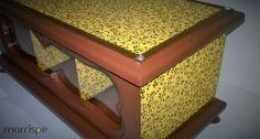 Porta-chá floral :) #artesanato #mdf #tecido #estampas #floral #inspirese #crie #portacha