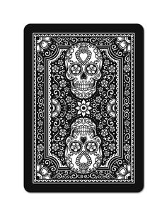 Edgy Brothers playing cards black deck for Dia de los muertos