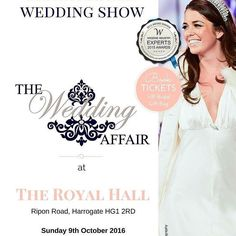 The BEST Wedding Show you'll attend this Autumn in #Harrogate and beyond on 9th October! Chat to over 75 amazing Suppliers and the very finest Venues. Visit our Seasonal Design Quarter showcasing a Spring Summer and Autumn wedding watch our stunning live musical professional catwalk shows and enjoy a hog roast and refreshments. Don't forget our Gift Bags packed full of goodies and free magazines! Enter our 5000 Honeymoon Competition to the Caribbean courtesy of Brides Abroad Magazine. Get…