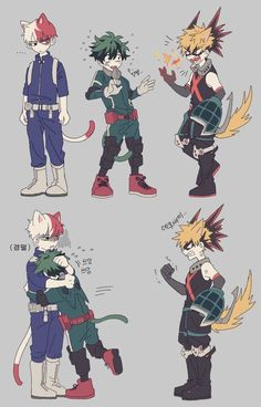 [Cat] Todoroki Shouto & [Cat] Midoriya Izuku & [Cat] Bakugou Katsuki
