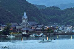 Church on the bay of Amakusa