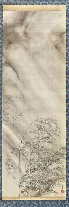 Maruyama Ōkyo 圓山應擧, 1733–1795. Willow Trees in Spring Storm, ca. 1794. Japanese Hanging scroll; ink and light color on silk. Princeton University Art Museum.