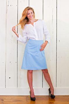 Clothing Labels, Cotton Skirt, The Chic, Her Style, Denim Skirt, Designer Dresses, Elegant, Skirts, Clothes