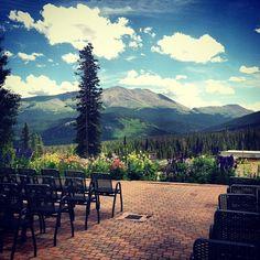 Ceremony deck on @Breckenridge Kling Rochow Resort. // #Colorado #wedding #venue