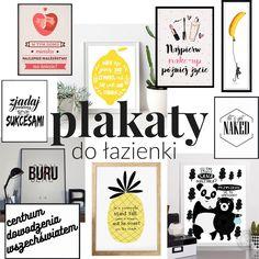 Wesołe ikolorowe dodatki dołazienki - plakaty łazienkowe Diy And Crafts, Buildings, Mandala, Gallery Wall, Posters, Bath, Humor, Frame, Funny