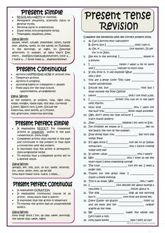English ESL worksheets, activities for distance learning and physical classrooms English Grammar Tenses, Teaching English Grammar, English Grammar Worksheets, English Verbs, English Language Learning, Teaching Spanish, Spanish Language, French Language, Sign Language