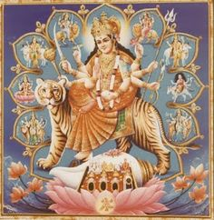 Navratri Puja will help you overcome all your negativities. Flourish with wealth on this Navratri by offering Homam to Lakshmi, Saraswathi & Durga. Navratri Puja, Happy Navratri, Indian Goddess, Goddess Lakshmi, Durga Ji, Durga Images, Hindu Deities, Krishna Hindu, Baby Krishna