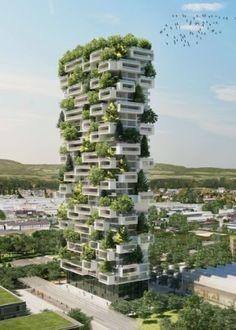 Uma torre residencial em Lausanne, na Suíça, serátransformada em floresta vertical.