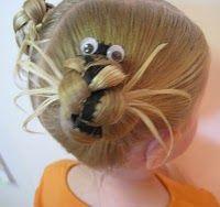halloween spider hairdo. super cute!