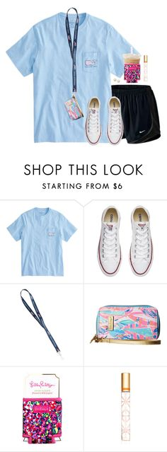 """""""Who else loves big tshirts"""" by aweaver-2 on Polyvore featuring NIKE, Converse, Lilly Pulitzer, Tory Burch and Honora"""