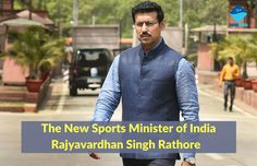 The New Sports Minister of India - Rajyavardhan Singh Rathore, the First Ever Sports Minister from Sports Background  Read more about him @ #SwimIndia #RajyavardhanSinghRathore