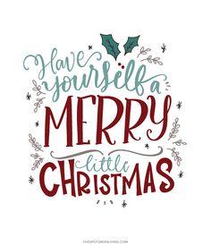 have yourself a merry christmas printable