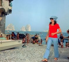 Jackie O. in Capri. She was just so chic. We miss seeing her around here in NY. She walked among all of us and really was one of us. What a lady. An so chic in Capri, my favorite place other than Rome, NYC, and of course Lake Placid.