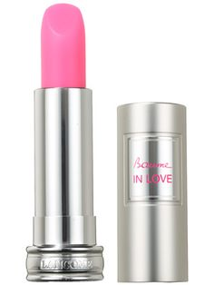 Lancôme Baume in Love in Rose in Love, looks shocking but is actually translucent.