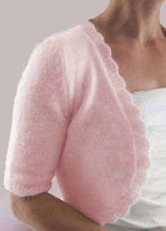 Angora Shrug Knitting Pattern | Knitting Patterns for Shrugs and Boleros, many free patterns at http://intheloopknitting.com/free-shrug-bolero-knitting-patterns/