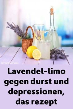 Lavendel-limo gegen durst und depressionen, das rezept Lavender limon against thirst and depression, the recipe Smoothie Menu, Pear Smoothie, Fruit Smoothies, Healthy Smoothies, Smoothie Recipes, Drink Recipes, Healthy Eating Tips, Healthy Nutrition, Cocktail Drinks