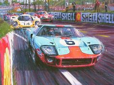 ... John Wyer Racing Ford GT40 in one of the closest finishes ever