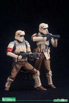 Kotobukiya - ARTFX - Rogue One: A Star Wars Story - Scarif Stormtrooper (Shoretrooper) Two Pack scale) Star Wars Clone Wars, Star Wars Clones, Imperial Stormtrooper, Star Wars Decor, Star Wars Art, Kotobukiya Star Wars, Figuras Star Wars, Star Wars Models, Rpg