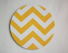 mousepad / Round or rectangle Mouse Pad / Mat  YELLOW by Laa766  chic / cute / preppy / laptop accessory / desk, computer accessory / office decor / gift / patterned design / school