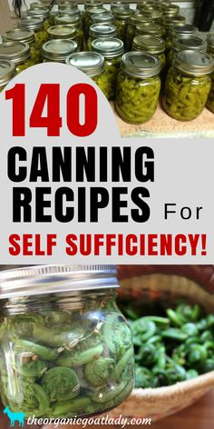 140 Canning Recipes For Self Sufficiency! Self Sufficient Living Preserving Food Self Sufficient Homestead Canning Food Canning Tomatoes Canning Beans Canning Soups Canning Meat Canning Vegetables Canning Jam and Jelly Pressure Canning Recipes, Home Canning Recipes, Pressure Cooking, Tomato Canning Recipes, Canning Tomato Soup, Canning Beans, Canning Tips, Canning Corn, Canning Pickles
