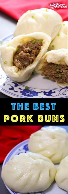 Chinese Steamed Pork Buns Recipe – TipBuzz Pork Buns are a Chinese dim sum tradition consisting of soft steamed buns with a juicy and flavorful pork filling inside. They're a great grab-and-go snack, and fit nicely into any Asian-themed meal or potluck. Spicy Recipes, Seafood Recipes, Slow Cooker Recipes, Asian Recipes, Beef Recipes, Appetizer Recipes, Cooking Recipes, Soft Food Recipes, Asian Appetizers
