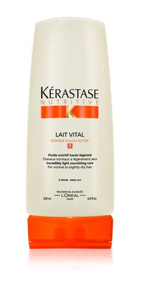 Use as leave in kerastase+Lait+Vital.  A conditioner perfect for long hair that is a bit distressed.