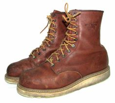 Vintage Red Wing STEEL TOE 8221 Leather Crepe Sole Work Boots Sz 9.5 D ** #RedWing #WorkSafety