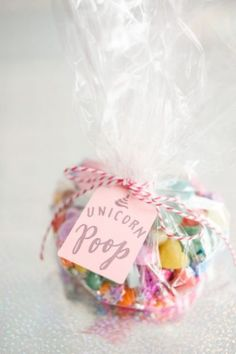 Magical Unicorn Party Unicorn Poop candy bag from a Geometrical Magical Unicorn Party on Kara's Party Ideas Rainbow Unicorn Party, Unicorn Themed Birthday Party, Unicorn Birthday Parties, Birthday Party Themes, Unicorn Party Bags, Candy Bags Birthday, 2nd Birthday, Birthday Ideas, Frozen Birthday