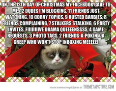 On the 12th day of Christmas… I'm dying!