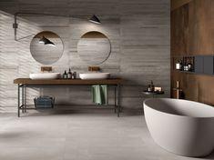 Porcelain stoneware wall/floor tiles LAB325 By ABK Bathroom Flooring, Kitchen Flooring, Bathroom Wall, Wall And Floor Tiles, Wall Tiles, Concrete Look Tile, House On The Rock, Bath Design, Bathroom Interior Design