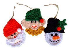 Christmas Package Ties: Free crochet pattern from Crochet Village