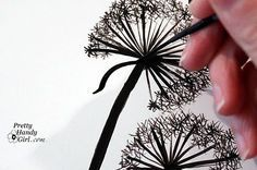 how to paint your own dandelions to go with the other idea that has dandelions