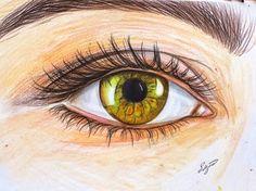 Kuru boya göz çizimi #göz #eye #kuruboya Kawaii Doodles, Art Folder, Eye Painting, Color Pencil Art, Doodle Drawings, Colored Pencils, Cute Couples, Anime, Eyes