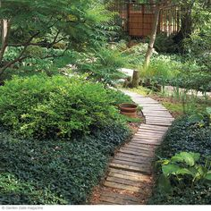 From old to new - repurpose old deck boards into a rustic walkway