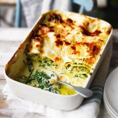 Courgette, spinach & ricotta lasagne