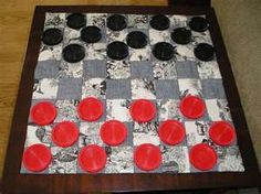 Make a small checker board in the middle of the quilt using black and red bandanas.  I'm on a roll.....make a backgammon version too in some other color combination.