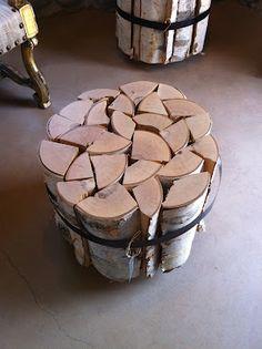 bundled wood table