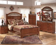 Traditional Wooden Bedroom Suite With Beautiful Design.