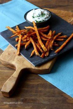 """Mango & Tomato: Baked Sweet Potato """"Fries"""" and A Wusthof Cook's Knife Giveaway"""