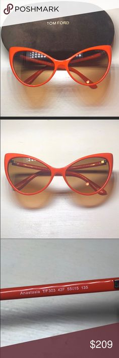 e1ab4dee83c Tom Ford Orange cat eye woman sunglasses Brand new