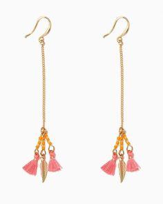 Charming charlie Alina Feather Tassel Earrings