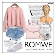 """""""ROMWE"""" by dzenny10 ❤ liked on Polyvore featuring OneTeaspoon, adidas Originals, The Cambridge Satchel Company, B&O Play and romwe"""