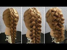Коса из 5 прядей - YouTube