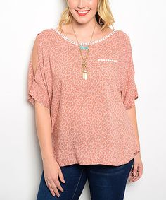 This Rose & Ivory Cutout Top - Plus is perfect! #zulilyfinds