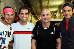 Who is the best #Tennis player?  FED! Or Agassi. Or Sampras. Or nadal for that matter. I like fed and agassi the best tho