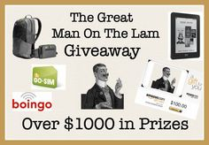 Giveaway from Man On The Lam Giveaway