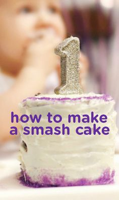Some first-birthday party guarantees include a giant smash cake mess, extra wide baby smiles, and hilarious candid photos. Learn how to make a smash cake in just a few simple steps. It's just not fair to spend forever baking and decorating a perfect cake when you know its destiny is to be destroyed by your one-year-old's tiny hands!